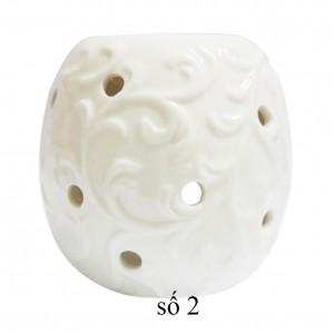 Đèn gốm nến trắng (MS: 02)