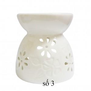 Đèn gốm nến trắng - Hoa mai (MS: 03)